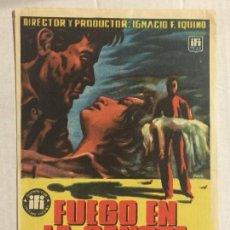Cine: PROGRAMA DE CINE FUEGO EN LA SANGRE. CINE AVENIDA (JAÉN).. Lote 121648979
