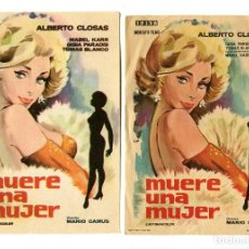 Cine: MUERE UNA MUJER, CON ALBERTO CLOSAS.. Lote 121723539