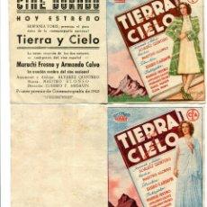 Cine: TIERRA Y CIELO, CON MARUCHI FRESNO.. Lote 121724919