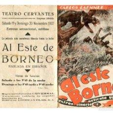 Cine: AL ESTE DE BORNEO, CON LUPITA TOVAR.. Lote 121732571