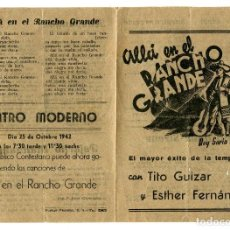 Cine: ALLÁ EN EL RANCHO GRANDE, CON TITO GUIZAR.. Lote 121733731