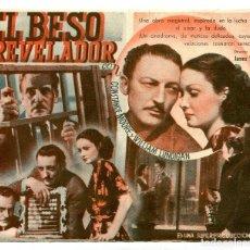 Cine: EL BESO REVELADOR, CON WARREM WILLIAM. S/I.. Lote 121735139