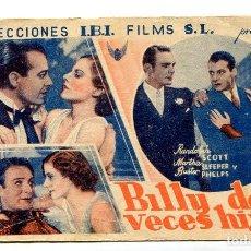 Cine: BILLY DOS VECES HIJO, CON RANDOLPH SCOTT.. Lote 121735579