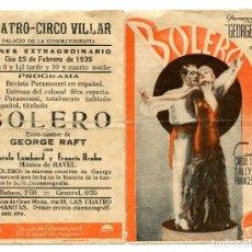 Cine: BOLERO, CON GEORGE RAFT . C/I.. Lote 121736499