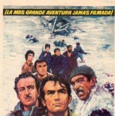 Flyers Publicitaires de films Anciens: LOS CAÑONES DE NAVARONE. Lote 121820887