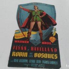 Cine: ANTIGUO PROGRAMA DE CINE TROQUELADO ROBIM DE LOS BOSQUES. Lote 121838591