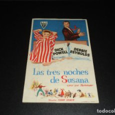 Cine: PROGRAMA DE MANO ORIGIN - LAS TRES NOCHES DE SUSANA - CINE DE CADIZ. Lote 121859127