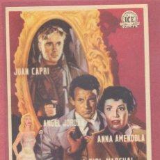 Cine: FOLLETO DE MANO ORIGINAL, AVENIDA ROMA 66, SIN PUBLICIDAD, VER FOTOS. Lote 121884091