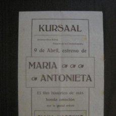 Cine: MARIA ANTONIETA - DIANA KARENNE- CINE MUDO - KURSAAL - OMNIA-VER FOTOS- (C-4190). Lote 121915255