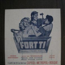 Cine: FORT TI - CAPITOL -METROPOL - BOSQUE -VER FOTOS- (C-4195). Lote 121916243