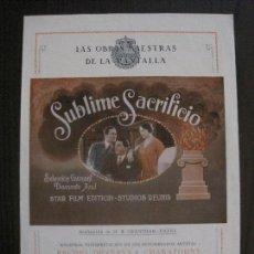 Cine: SUBLIME SACRIFICIO - STAR FILM EDITION -VER FOTOS- (C-4196). Lote 121916527