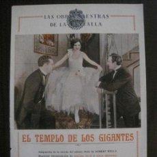 Cine: EL TEMPLO DE LOS GIGANTES - GAUMONT -VER FOTOS- (C-4198). Lote 121916827