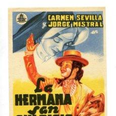 Cine: LA HERMANA SAN SUPLICIO, CON CARMEN SEVILLA. S/I.. Lote 121919059