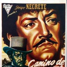 Cine: CAMINO DE SACRAMENTO- JORGE NEGRETE- EN DORSO SELLO CINE REX CASTELLON-6 SEPT.1948. Lote 121964711