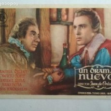 Cine: FOLLETO DE CINE, UN DRAMA NUEVO, AÑOS 50, ORIGINAL, PUBLICIDAD CINE ALHAMBRA, LOGROÑO. Lote 122097555