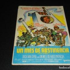 Cine: PROGRAMA DE MANO ORIGIN - UN MES DE ABSTINENCIA - SIN CINE. Lote 122097783