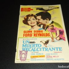 Cine: PROGRAMA DE MANO ORIGIN - UN MUERTO RECALCITRANTE - CINE DE CADIZ. Lote 122097867