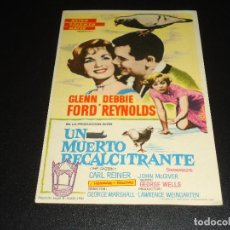 Cine: PROGRAMA DE MANO ORIGIN - UN MUERTO RECALCITRANTE - CINE DE TURON. Lote 122097899