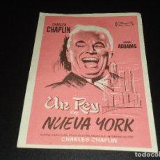 Cine: PROGRAMA DE MANO ORIGIN - UN REY EN NUEVA YORK - SIN CINE. Lote 122098059