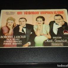 Cine: PROGRAMA DE MANO ORIGIN - UN TENORIO IMPROVISADO - SIN CINE. Lote 122098087