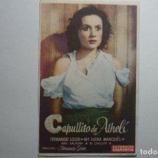 Cine: PROGRAMA CAPULLITO DE ALHELI -FERNANDO SOLER. Lote 122100359