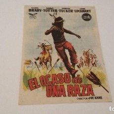 Cine: EL OCASO DE UNA RAZA - SCOTT BRADY - AUDREY TOTTER - GRAN CINEMA COCA _AN. Lote 122138907