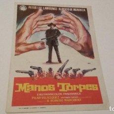 Cine: MANOS TORPES - PETER LEE LAWRENCE - ALBERTO DE MENDOZA - S/P _AN. Lote 122141131