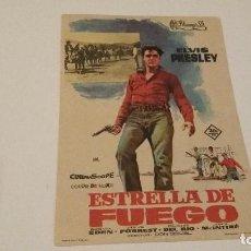 Cine: ESTRELLA DE FUEGO - ELVIS PRESLEY - VER DORSO _AN. Lote 122150599