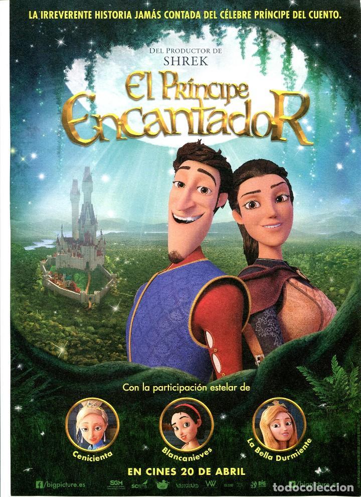 EL PRÍNCIPE ENCANTADOR, DIBUJOS ANIMADOS. 21 X 30 CMS. C/I. (Cine - Folletos de Mano - Infantil)