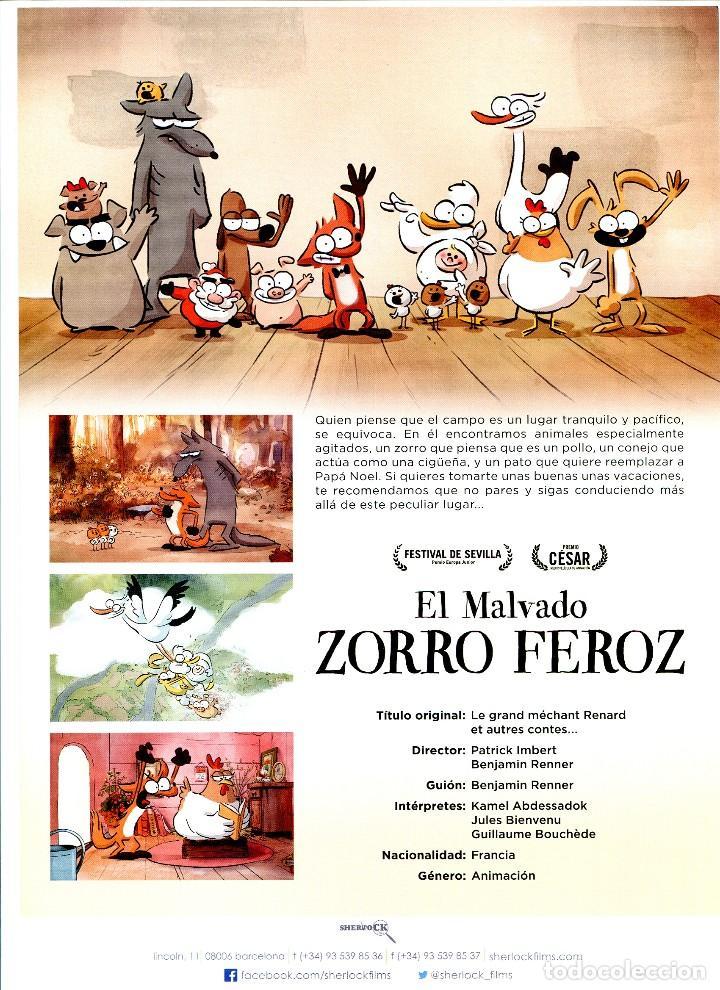 Cine: EL MALVADO ZORRO FEROZ, DIBUJOS ANIMADOS. 21 X 30 cms. C/I. - Foto 2 - 122151487