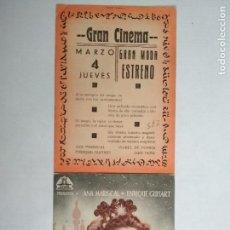 Cine: FOLLETO DE CINE DOBLE, VIDAS CRUZADAS, AÑOS 40, ORIGINAL, GRAN CINEMA. Lote 122216319