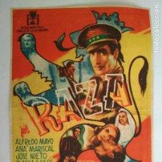 Cine: FOLLETO DE CINE, RAZA, AÑOS 40, ORIGINAL, TEATRO LOSADA, VALENCIA. Lote 122216699