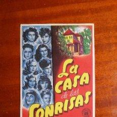 Cine: LA CASA DE LAS SONRISAS- SIN PUBLICIDAD _MA. Lote 122266831