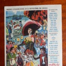 Cine: CARRUSEL NAPOLITANO- CON PUBLICIDAD TEATRO COLÓN _MA. Lote 122267019