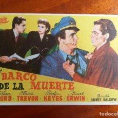 Cine: EL BARCO DE LA MUERTE- CON PUBLICIDAD CINE AVENIDA _MA. Lote 122267859