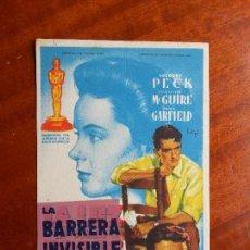 Cine: LA BARRERA INVISIBLE- SIN PUBLICIDAD _MA. Lote 122267951