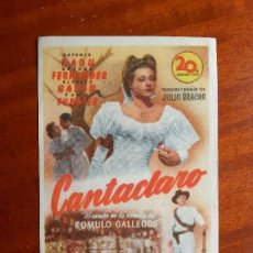 Cine: CANTACLARO- CON PUBLICIDAD CINE STA MARGARITA, CORUÑA _MA. Lote 122268291