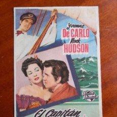 Cine: EL CAPITÁN PANAMÁ- CON PUBLICIDAD TEATRO ROSALÍA CASTRO, CORUÑA _MA. Lote 122268487