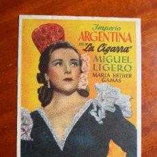 Cine: LA CIGARRA- CON PUBLICIDAD GRAN CINEMA CISSA _MA. Lote 122270559