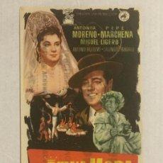 Cine: PROGRAMA DE CINE LA REINA MORA. PUBLICIDAD EN EL REVERSO.. Lote 122274467