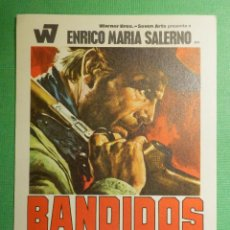 Cine: FOLLETO - PELÍCULA - FILM - LARGOMETRAJE - CINE - BANDIDOS - SIN PUBLICIDAD. Lote 122315491