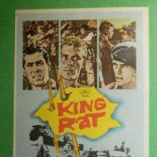 Cine: FOLLETO - PELÍCULA - FILM - LARGOMETRAJE - CINE - KING RAT - SIN PUBLICIDAD. Lote 191327758
