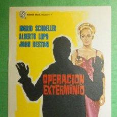 Cine: FOLLETO - PELÍCULA - FILM - LARGOMETRAJE - CINE - OPERACIÓN EXTERMINIO - SIN PUBLICIDAD. Lote 191327727