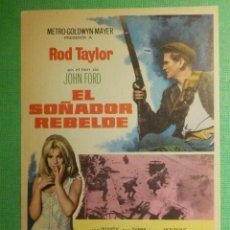 Cine: FOLLETO - PELÍCULA - FILM - LARGOMETRAJE - CINE - EL SOÑADOR REBELDE - SIN PUBLICIDAD. Lote 191327772