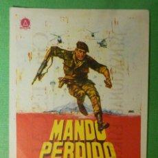 Cine: FOLLETO - PELÍCULA - FILM - LARGOMETRAJE - CINE - MANDO PERDIDO - CINE ESCALA - . Lote 122318435