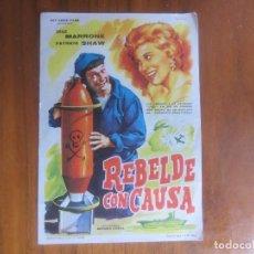 Cine: PROGRAMA DE CINE FOLLETO DE MANO-REBELDE CON CAUSA-AÑOS 40-50 SIN PUBLICIDAD. Lote 122458423