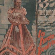 Cine: LA LINDA BEATRIZ - PROGRAMA DOBLE DE NUEVA UNIVERSAL CON PUBLICIDAD RF-1342. Lote 122537999