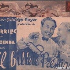 Cine: EL BILLETE PREMIADO / PROGRAMA DOBLE DE MGM SIN PUBLICIDAD , RF-1340. Lote 122626647