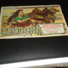 Cine: PROGRAMA DE MANO ORIGINAL - TEODORA- CINE DE MANZANARES ( PEDIDO MINIMO 5 EUROS ). Lote 122766335