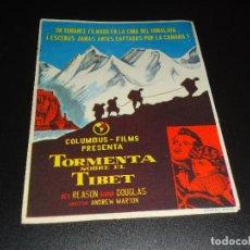 Cine: PROGRAMA DE MANO ORIGINAL - TORMENTA SOBRE EL TIBET - SIN CINE ( PEDIDO MINIMO 5 EUROS ). Lote 122766707
